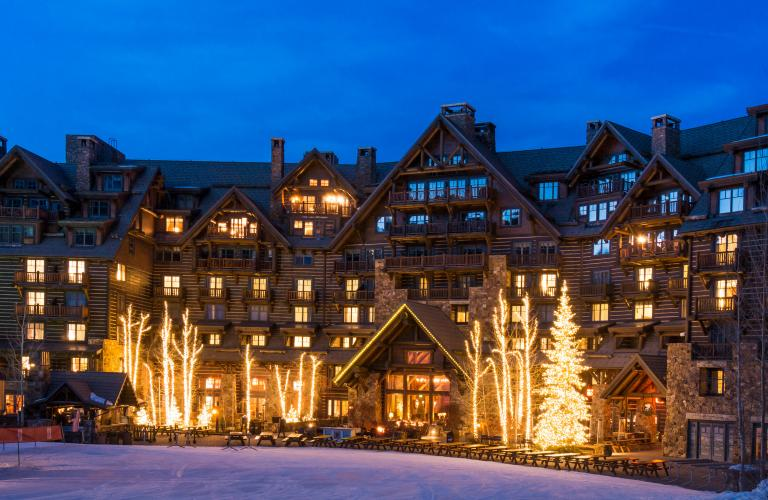 Ritz-Carlton Bachelor Gulch Warm White LED Christmas Lights, Strung by our affiliates at Thank You Masked Man Services